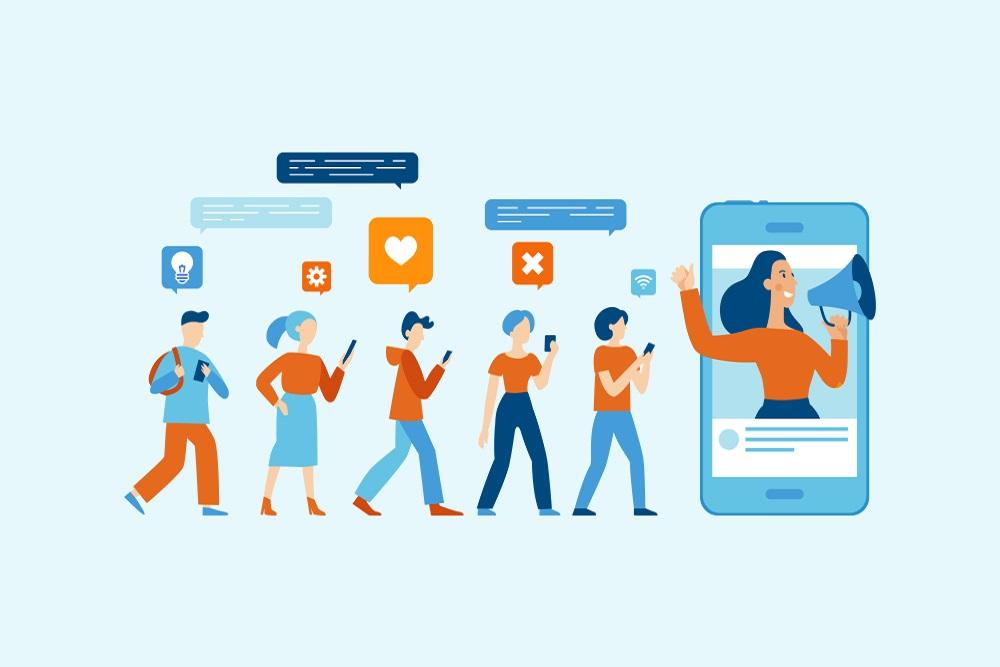 Influencer digital marketing