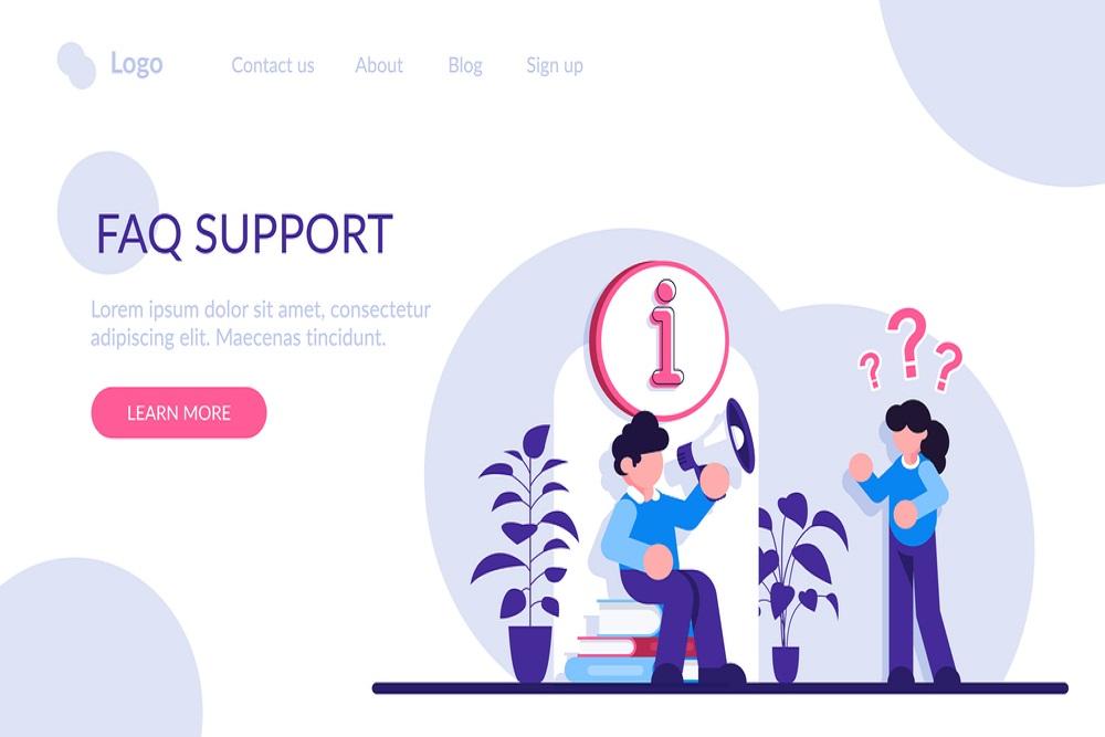 Build a website FAQ section