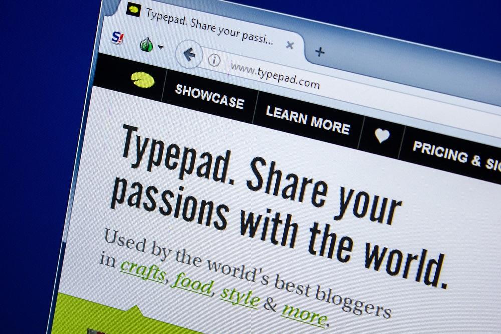 TypePad.com main page