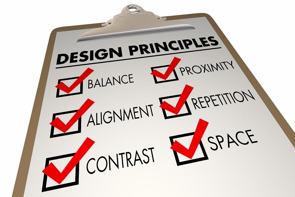 Design Principles Elements Checklist Clipboard 3d Illustration