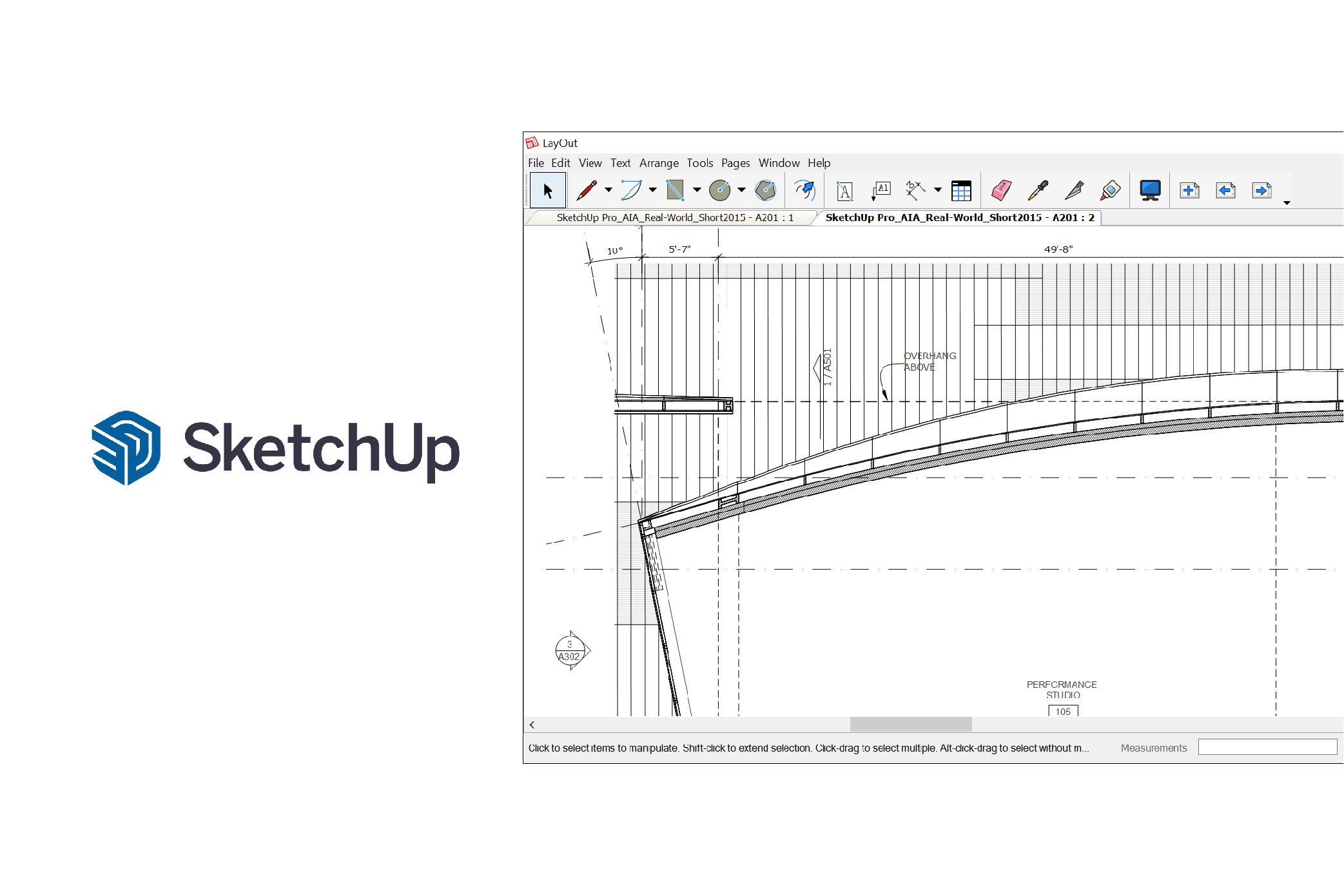 Sketchup software user interface