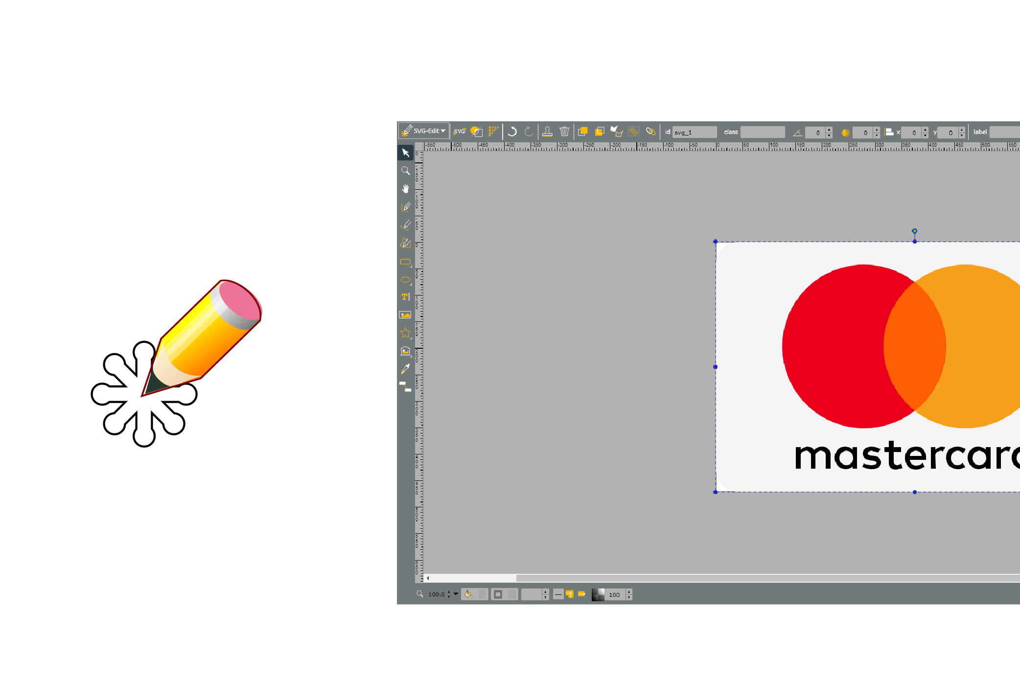 Interface of SVG-Edit software