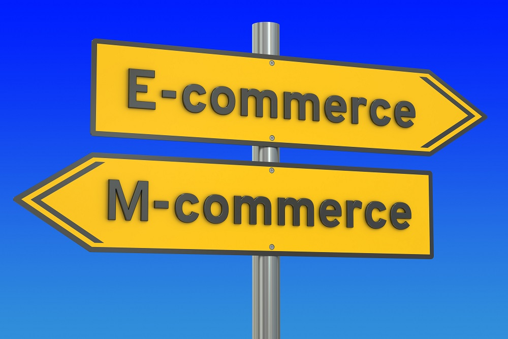 e-commerce or m-commerce concept